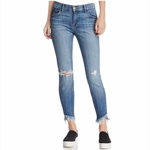 PISTOLA Audrey Distressed Cropped Ankle Jeans